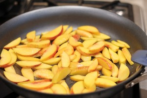 Cooking peaches for a Persian Beef Khoresh