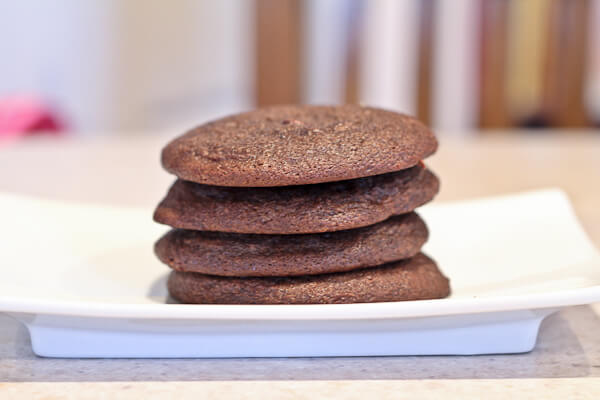 """Baked"" Chocolate Cream Cheese Snacking Cookies"
