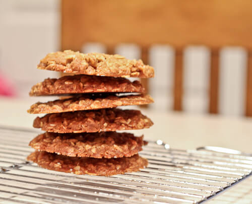 Salted Browned Butter Honey and Oatmeal drop cookies