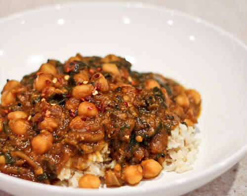 Weeknight Indian Pumpkin Curry with Chickpeas