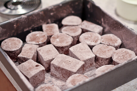Peppermint Dark Chocolate Marshmallows