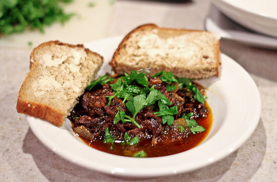 Greek Beef Stew with Grape Must Syrup