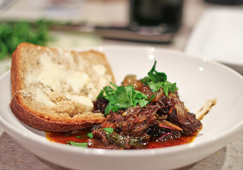 Greek Braised Beef with Grape Molasses