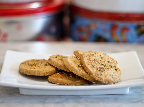Pistachio and Cardamom Icebox Cookies