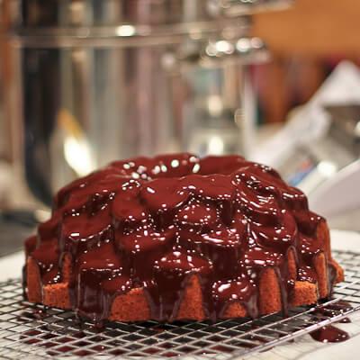 Just glazed Chocolate Glazed Latte Cake
