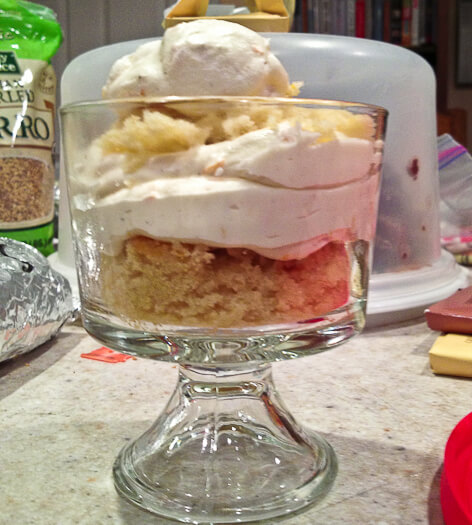 Citrus Bundt Cake with Sprakling Wine and Fiori di Sicilia Trifle