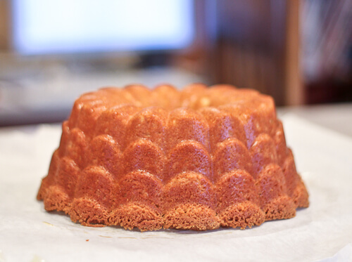Orange Vanilla Bundt Cake with a Hint of Coconut
