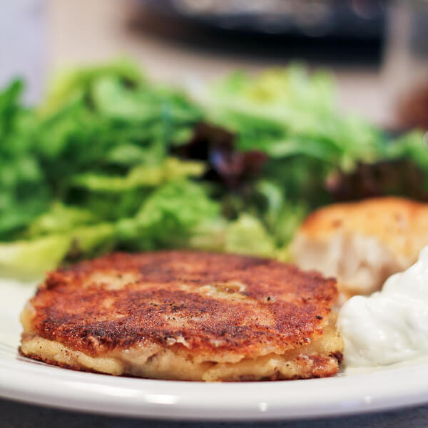 Potato Pancake made from pierogi filling