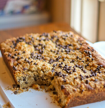 Chocolate Chip Buttermilk Crumb Cake