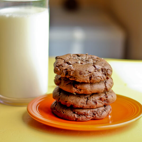 Double Chocolate Chip Cookies made with PB