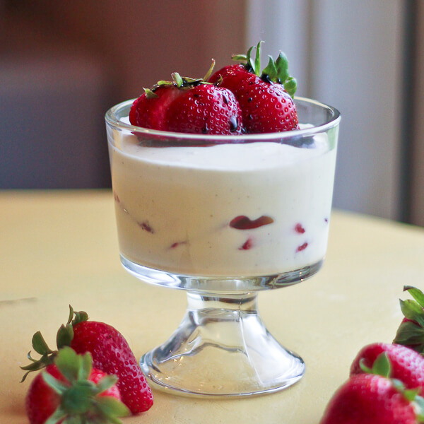 : White Chocolate Mousse with Strawberries and Strawberry ...